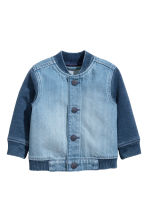 Giacca da baseball in denim - Blu denim -  | H&M IT 1