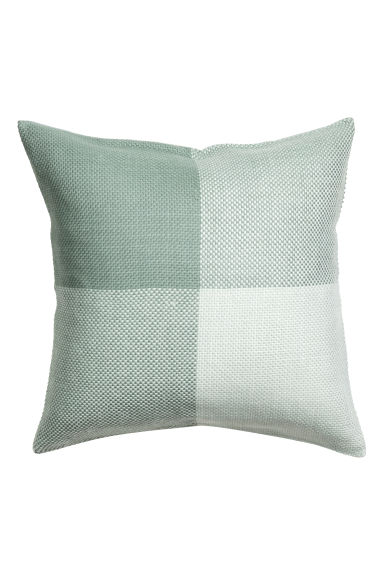 Block-patterned cushion cover - Dusky green - Home All | H&M CN 1