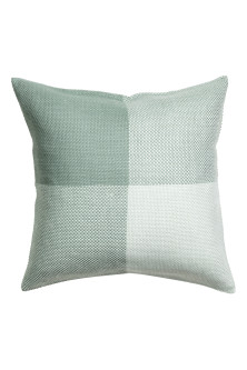 Block-patterned cushion cover