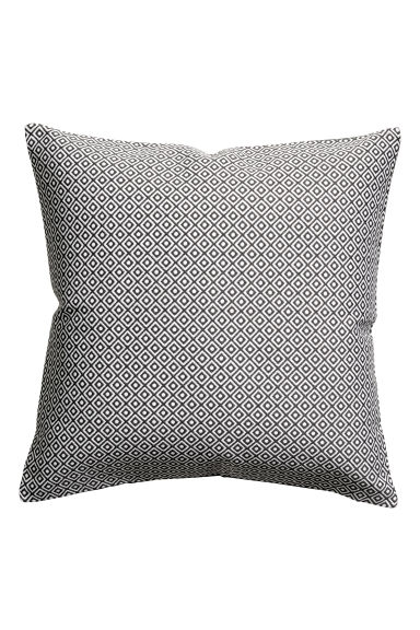 Jacquard-weave cushion cover - Grey - Home All | H&M CN 1