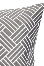 Jacquard-weave cushion cover - Grey - Home All | H&M CN 2