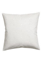 Slub-weave cushion cover - White - Home All | H&M CN 1