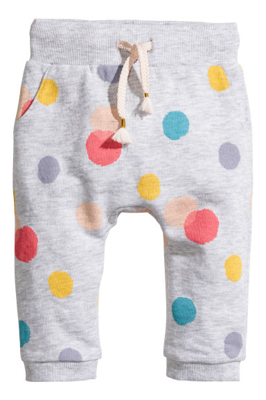 Joggers - Light grey/Spotted - Kids | H&M CN 1
