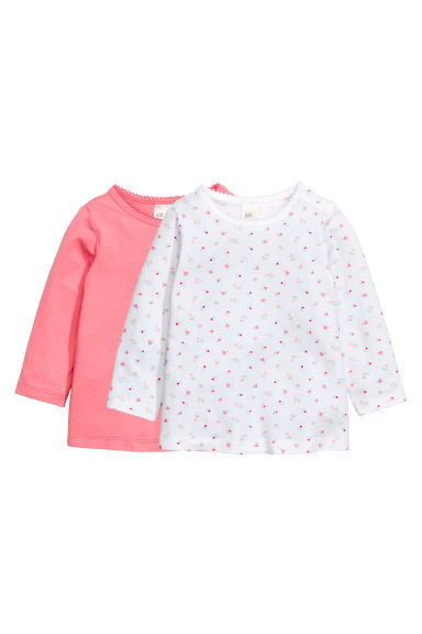 2-pack long-sleeved tops - Pink -  | H&M 1