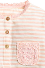 Long-sleeved top - Light pink/Striped - Kids | H&M 2