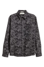 Nepped shirt - Black/Patterned - Men | H&M 2