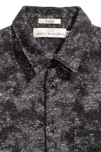 Nepped shirt - Black/Patterned - Men | H&M 3