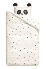 Spot-print duvet cover set - White/Panda - Home All | H&M CN 2