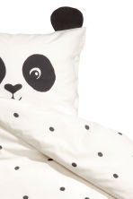 Spot-print duvet cover set - White/Panda - Home All | H&M CN 3