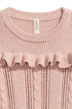 Knitted jumper with a frill - Vintage pink - Ladies | H&M 3