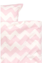 Zigzag-print duvet cover set - White/Light pink - Home All | H&M CN 3