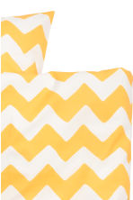 Zigzag-print duvet cover set - White/Yellow - Home All | H&M CN 3