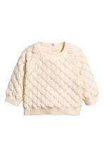 Textured-knit jumper - Natural white - Kids | H&M CN 1