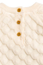 Textured-knit jumper - Natural white -  | H&M 4