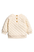 Textured-knit jumper - Natural white -  | H&M 2