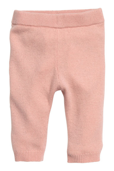 Fine-knit cashmere trousers - Powder pink - Kids | H&M 1