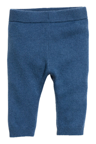 Fine-knit cashmere trousers - Blue - Kids | H&M