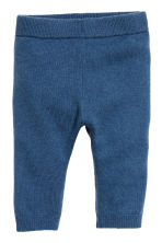 Fine-knit cashmere trousers - Blue - Kids | H&M 1