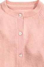 Cashmere cardigan - Powder pink - Kids | H&M CN 2