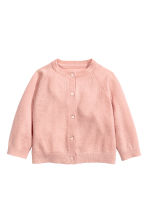 Cashmere cardigan - Powder pink - Kids | H&M CN 1