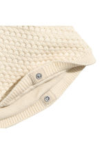 Textured-knit poncho - Light beige -  | H&M CN 2