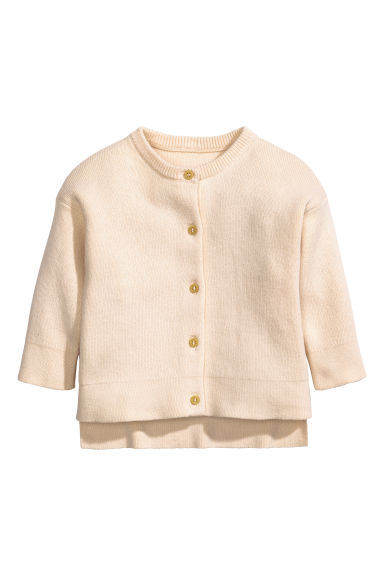 Fine-knit cardigan - Light beige -  | H&M CA 1