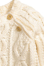 Cable-knit jumper - Natural white - Kids | H&M 2
