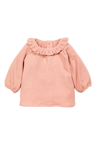 Cotton blouse - Powder pink - Kids | H&M CN
