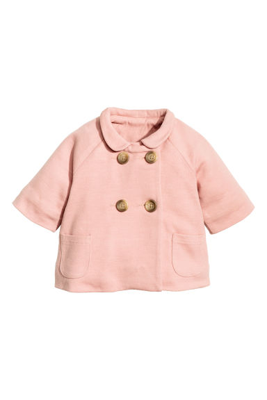 Wool-blend coat - Powder pink -  | H&M CN 1