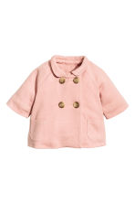 Wool-blend coat - Powder pink - Kids | H&M CN 1