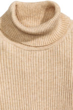 Ribbed polo-neck jumper - Beige marl - Kids | H&M CN 2