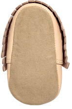 Leather moccasins - Beige -  | H&M CN 3