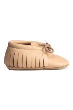 Leather moccasins - Beige -  | H&M CN 2