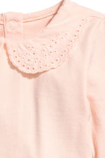 Bodysuit with a collar - Powder pink -  | H&M CN 2