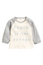 Long-sleeved top - Natural white - Kids | H&M 1
