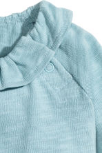 Flounced top - Dusky blue -  | H&M 2