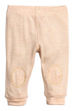 Wool jersey leggings - Beige marl - Kids | H&M 1