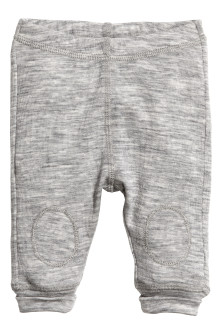 Wool jersey leggings