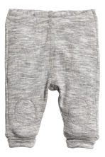 Wool jersey leggings - Grey marl - Kids | H&M CN 1