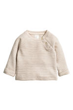 Textured sweatshirt  - Light beige - Kids | H&M 1