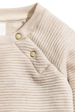 Textured sweatshirt  - Light beige - Kids | H&M CN 2