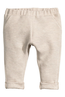 Textured jersey trousers