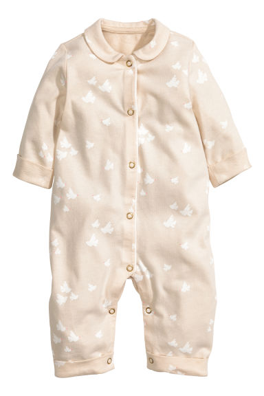 All-in-one pyjamas - Light beige - Kids | H&M 1