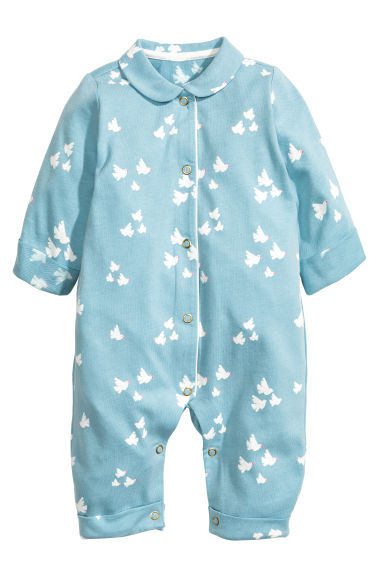 All-in-one pyjamas - Dusky blue -  | H&M