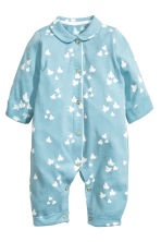 All-in-one pyjamas - Dusky blue - Kids | H&M 1