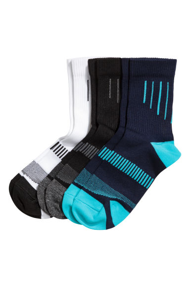 3-pack sports socks - Black - Kids | H&M 1