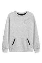 Sweat - Gris chiné - ENFANT | H&M FR 2