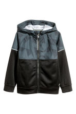 Hooded sports jacket - Black - Kids | H&M CN 2