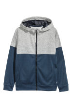 Hooded sports jacket - Dark blue - Kids | H&M 2