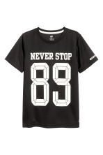 Short-sleeved sports top - Black - Kids | H&M CA 2